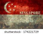 Republic of Singapore national flag, Vintage distressed version