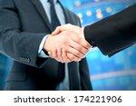 business handshake  the deal is ... | Shutterstock . vector #174221906