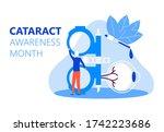cataract awareness month is... | Shutterstock .eps vector #1742223686