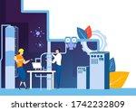 easy to edit vector... | Shutterstock .eps vector #1742232809