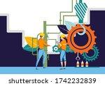 easy to edit vector... | Shutterstock .eps vector #1742232839