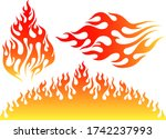 flame  fire vector flame design ... | Shutterstock .eps vector #1742237993