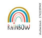 creative rainbow illustration...   Shutterstock .eps vector #1742239949
