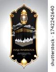 islamic pilgrimage hajj... | Shutterstock .eps vector #1742242640