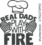 real dads play with fire  ... | Shutterstock .eps vector #1742273993