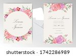 elegant watercolor floral...   Shutterstock .eps vector #1742286989