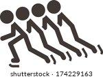 winter sport icon   short treck   Shutterstock .eps vector #174229163