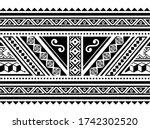 polynesian geometric seamless... | Shutterstock .eps vector #1742302520