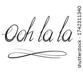 Raster Lettering Ooh La La Tex...