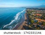 bali beach aerial view.... | Shutterstock . vector #1742331146