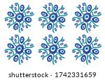 different patterns created from ...   Shutterstock .eps vector #1742331659