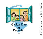 global day of parents  concept | Shutterstock .eps vector #1742343686