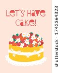 lets have cake vector card... | Shutterstock .eps vector #1742364323