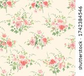 floral seamless pattern. flower ... | Shutterstock . vector #1742384546