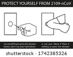 protect yourself from 2019 ncov ... | Shutterstock .eps vector #1742385326
