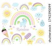 rainbow set. vector...   Shutterstock .eps vector #1742390099