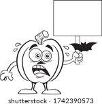 black and white illustration of ... | Shutterstock .eps vector #1742390573