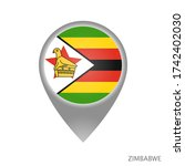 map pointer with flag of... | Shutterstock .eps vector #1742402030