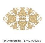 ornamental vector floral... | Shutterstock .eps vector #1742404289