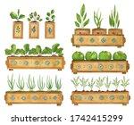 watercolor gardening set with...   Shutterstock . vector #1742415299