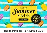 end of summer sale background... | Shutterstock .eps vector #1742415923