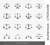 Scale Icons Set  Vector.
