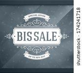 window advertising sale 50  off ... | Shutterstock .eps vector #174241718