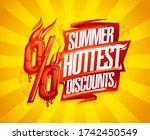 summer hottest discounts sale...   Shutterstock .eps vector #1742450549