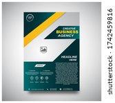 corporate flyer design.this is... | Shutterstock . vector #1742459816