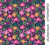 Fantasy Seamless Floral Pattern ...