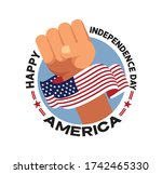 fourth of july independence day ... | Shutterstock .eps vector #1742465330