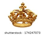 Isolated Golden Crown  To...