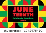 juneteenth freedom day. african ... | Shutterstock .eps vector #1742475410