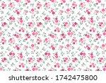 simple cute pattern in small... | Shutterstock .eps vector #1742475800