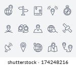 location icons | Shutterstock .eps vector #174248216