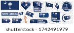 vector set of flags of the...   Shutterstock .eps vector #1742491979