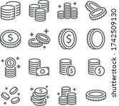 coin vector icon illustration... | Shutterstock .eps vector #1742509130