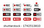 rec. set recording sign.... | Shutterstock .eps vector #1742513810