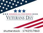 usa veterans day background.... | Shutterstock .eps vector #1742517863