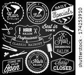 hairdressing badges and labels... | Shutterstock .eps vector #174253910