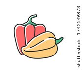 capsicums rgb color icon.... | Shutterstock .eps vector #1742549873
