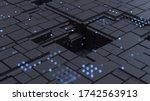 3d render. abstract background...   Shutterstock . vector #1742563913