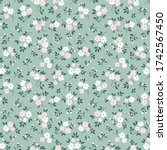 elegant floral pattern in small ... | Shutterstock .eps vector #1742567450