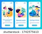 mobile app design  template. 2d ...
