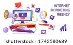 internet marketing agency... | Shutterstock .eps vector #1742580689
