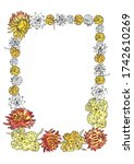 Floral Frame Of Immortelle And...