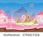 game fantasy landscape....   Shutterstock . vector #1742617226