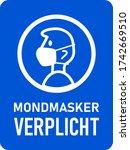"""mondmasker verplicht  """"face...   Shutterstock .eps vector #1742669510"""