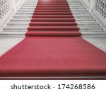 red carpet on a stairway used... | Shutterstock . vector #174268586