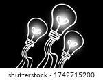 Electricity White Black Light...